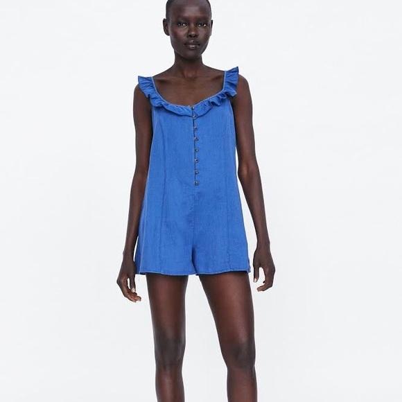acdf4b8039 Zara Rustic Linen Jumpsuit
